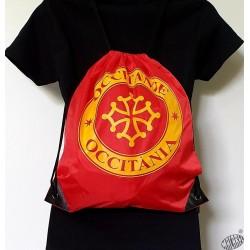 sac à dos cordelettes croix occitane