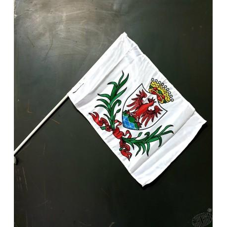 Lot 10 drapeaux Nissa mât PVC