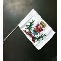 Lot 10 drapeaux Nice mât PVC