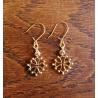 Boucles d'oreilles croix occitane métal doré