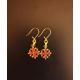 Boucles d'oreilles croix occitane sang et or
