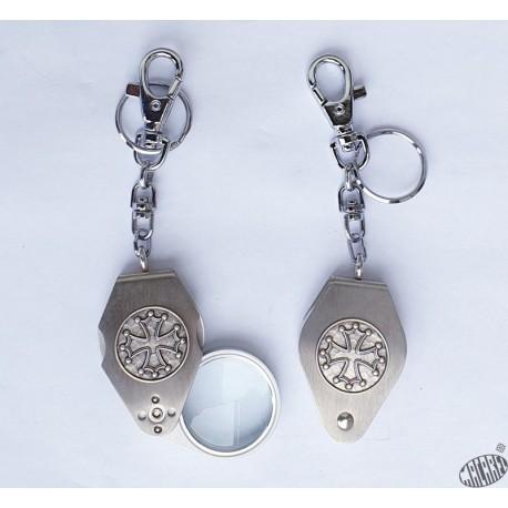 Porte-clés croix occitane loupe