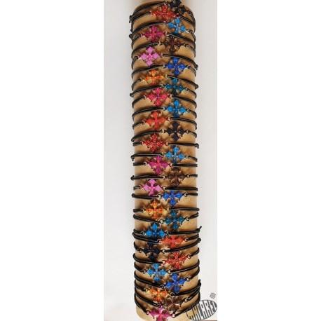 Bracelet réglable croix occitane émaillée