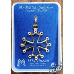 Pendentif croix occitane plaquée or grand modèle