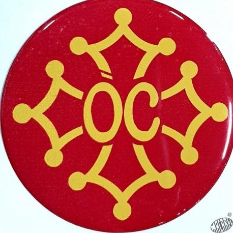 Auto-collant doming résine croix occitane