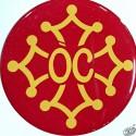 Autocollant doming résine croix occitane