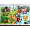 Puzzle bois en occitan animaux de la ferme