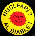 Auto-collant en occitan Nucleari al diable ! (Le nucléaire ? Au diable !)