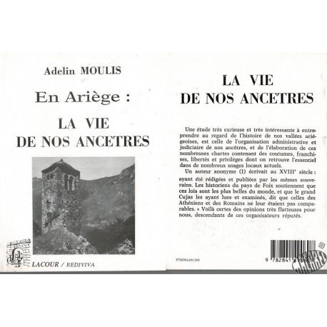 """Livre """" En Ariège, la vie de nos ancêtres"""" d'Adelin Moulis"""