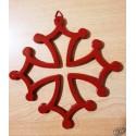 Croix occitane fonte rouge 21cm à suspendre