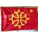 Drapeau occitan AVEC étoile en 70cmx100cm