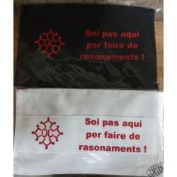 Masque de protection croix occitane et Soi pas aqui per faire de rasonaments !