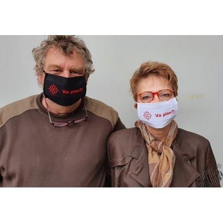 Masque de protection coton en occitan Va plan ? (ça va ?)