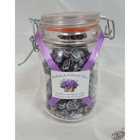 Bonbons à la violette en bocal de 50g