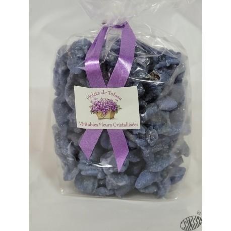 Violettes cristallisées en sachet de 100g