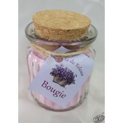 Bougie d'ambiance parfumée à la violette