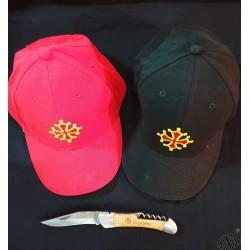 Lot casquette croix occitane et couteau tire-bouchon Occitània