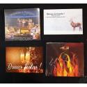 Lot 2 CD musique Vallées occitanes Italie et 2 cartes de voeux