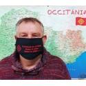 Masque de protection en occitan Carnaval es arribat