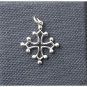 Pendentif croix occitane évidée argent massif 17mm