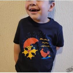 T-shirt enfant comptine en occitan La galina