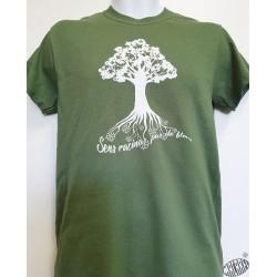 T-shirt Homme en occitan Arbre : Sens racinas, pas de flors