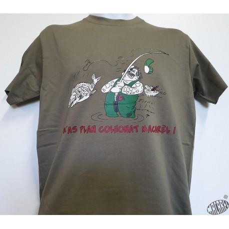 T-shirt Homme humour occitan Pescaire (Pêcheur)