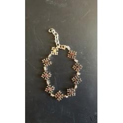 Bracelet plaqué or croix occitanes évidées