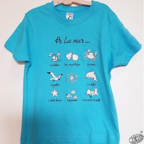T-shirt Enfant en occitan A la mar