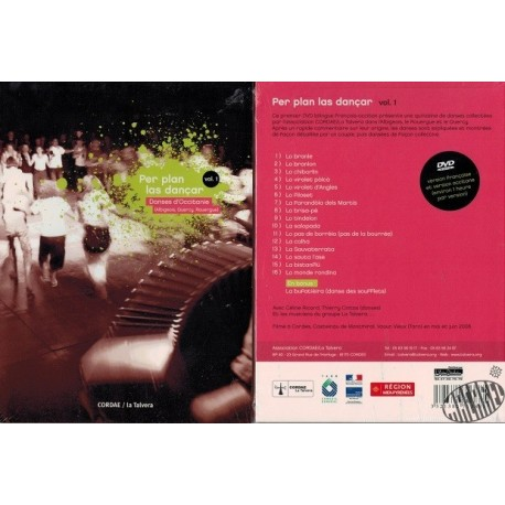 """DVD de La Talvera """" Per plan las dançar"""" Danses d'Occitanie"""