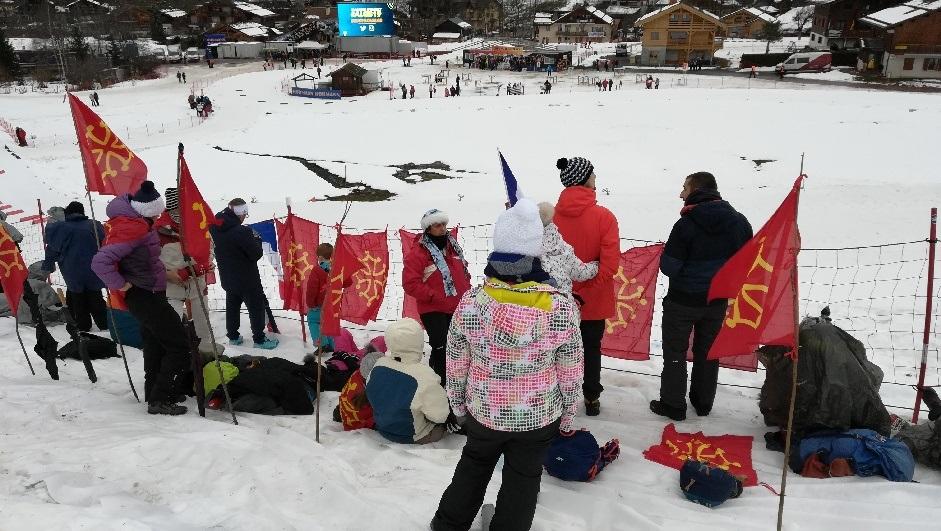 La tribu occitane à la coupe du monde de biathlon du Grand-Bornand.