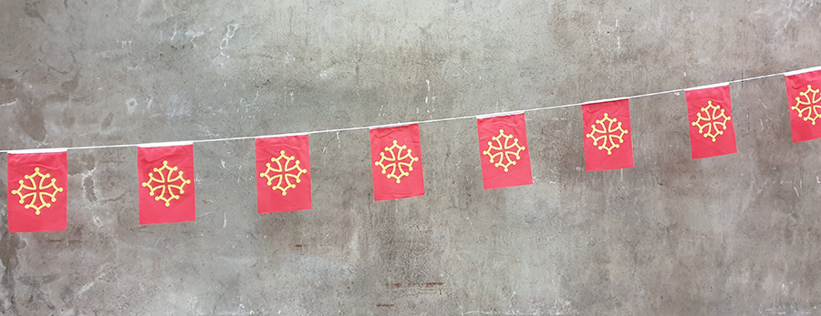 Guirlande drapeau occitan